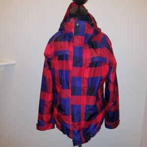 Vans Waterproof Checkered Hooded Jacket Size Small